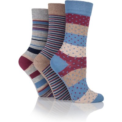 Jennifer Anderton Pack of 3 Stripe  Spot Design Socks