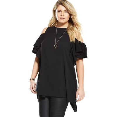 AX Paris Curve Cold Shoulder Top