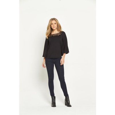 V By Very Angel Sleeve Yoke Trim Top