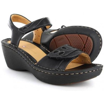 Clarks Unstructured Dory Leather Low Wedge Sandals