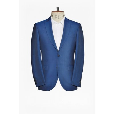 Slim Pin Dot Suit Jacket  - dark blue