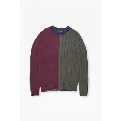 Cotton Wool Mixed Stripe Jumper - bordeaux/peat/chrmel/mb