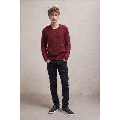 Soft Mohair Long Sleeved Jumper - bordeaux