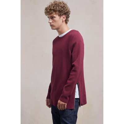 Lakra Knit Crew Neck Jumper - bordeaux
