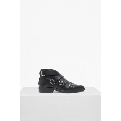 Alisa Multi Buckle Ankle Boots - black/silver