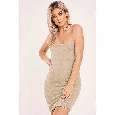 Khaki Dresses - Marion Khaki Textured Cami Dress