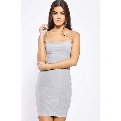 Dresses - Haven Grey Low Back Ribbed Cami Dress