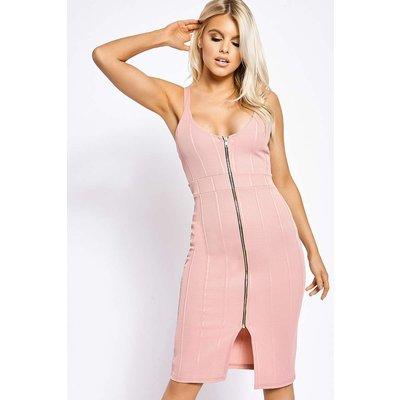 Rose Dresses - Billie Faiers Rose Zip Front Bandage Dress