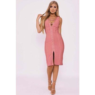 Rose Dresses - Billie Faiers Rose Lace Up Bandage Dress