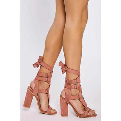 Pink Heels - Jackson Pink Buckle Wrap Strap Heels