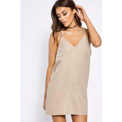 Stone Dresses - Fifi Stone Suedette Slip Dress