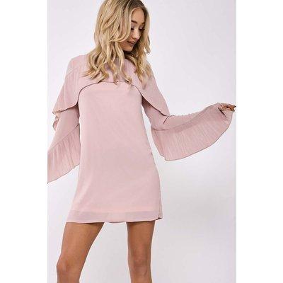 Blush Dresses - Julie Blush Frill Detail Dress
