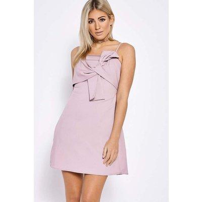 Mauve Dresses - Bellarose Mauve Bow Front Cami Dress