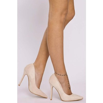 Cream Shoes - Jamille Cream Faux Suede Court Shoes