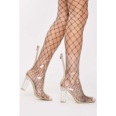 Nude Boots - Annika Nude Clear Ankle Boots