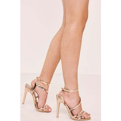 Gold Heels - Theta Rose Gold Strappy Heels
