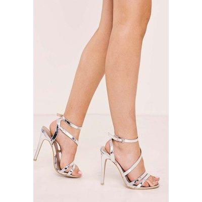 Silver Heels - Theta Silver Strappy Heels