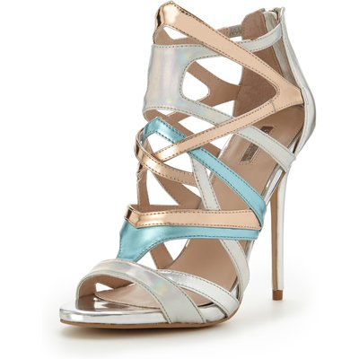 Carvela Gum Multistrap Metallic Sandals