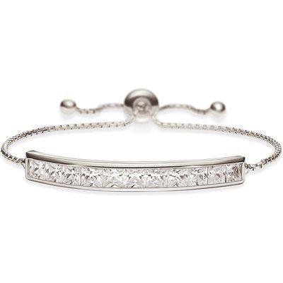Folli Follie Sterling Silver Cubic Zirconia Sparkle Ball Bracelet