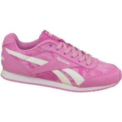 Reebok Sport  Royal CL Jog 2GR  girls's Children's Shoes (Trainers) in pink