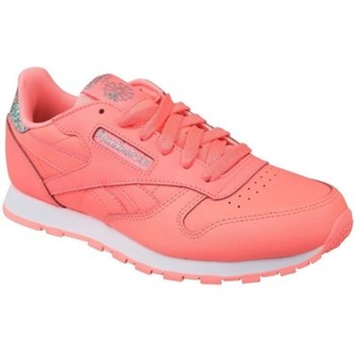 Reebok Sport  Classic Leather  girls's Children's Shoes (Trainers) in Pink