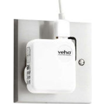 Veho UK Mains USB Charger Adaptor for iPhone  iPod  iPad  USB   White - 094922811141