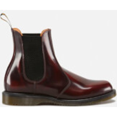 Dr. Martens Women's Kensington Flora Arcadia Leather Chelsea Boots - Cherry Red - UK 3 - Red