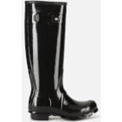 Hunter Women's Original Tall Gloss Wellies - Black - UK 6 - Black