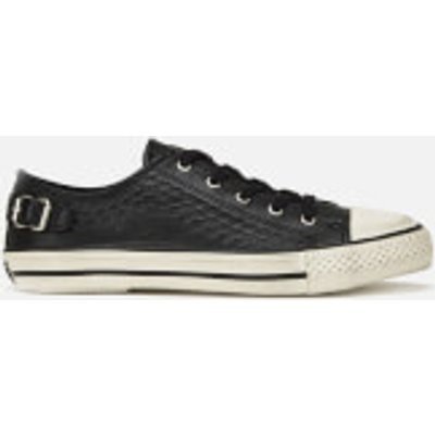 Ash Women's Virgo Leather Low Top Trainers - Black - 4 - Black/White