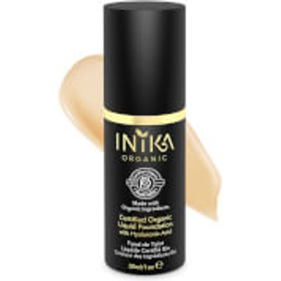 INIKA Certified Organic Liquid Mineral Foundation (Various Colours) - Honey