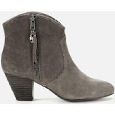 Ash Women's Jess Reverse Broken Suede Heeled Ankle Boots - Topo - UK 4 - Beige