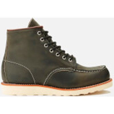 Red Wing Men's 6 Inch Moc Toe Leather Lace Up Boots - Charcoal Rough and Tough - UK 10/US 11 - Grey