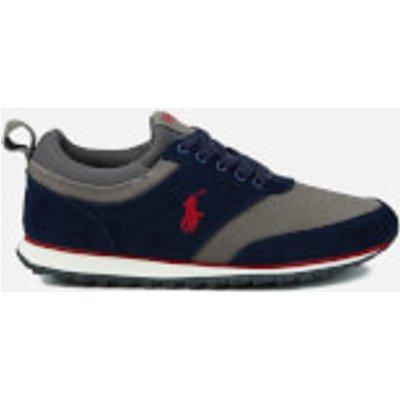 Polo Ralph Lauren Men's Ponteland Suede Sports Trainers - Newport Navy/Charcoal Grey