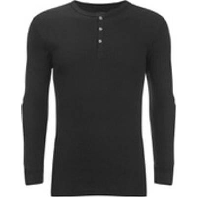 Levi's Men's Long Sleeve Grandad Top - Black - M - Black
