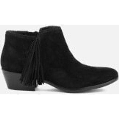 Sam Edelman Women's Paige Suede Tassle Ankle Boots - Black - UK 5.5/US 7.5 - Black
