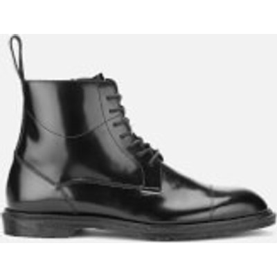 Dr. Martens Men's Henley Winchester Polished Smooth 7-Eye Zip Boots - Black