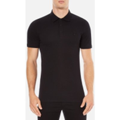 Versace Collection Men's Chest Logo Polo Shirt - Black
