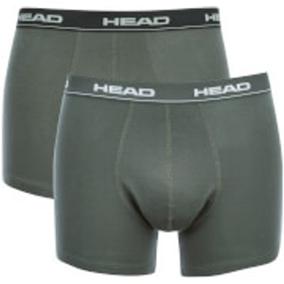 Head Men's 2-Pack Boxers - Black/Grey - S - Black