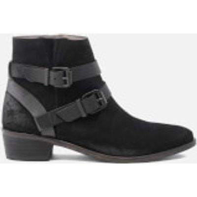 Hudson London Women's Meeya Suede Buckle Heeled Ankle Boots - Black