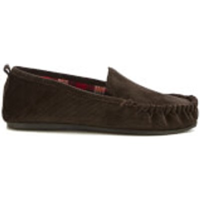 Dunlop Men's Adrien Moccasin Slippers - Brown - UK 11 - Brown
