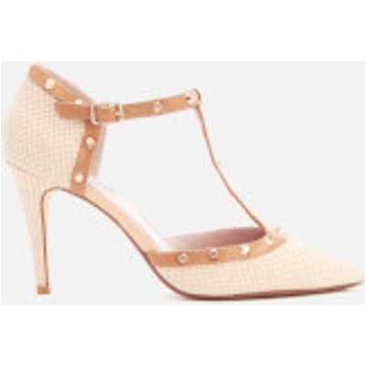 Dune Women's Cliopatra Embossed Leather Open Court Shoes - Nude - UK 7 - Nude