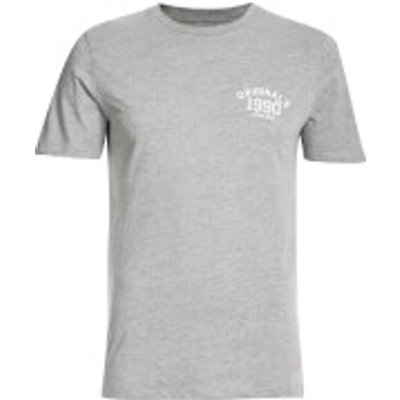 Jack & Jones Men's Originals Lights T-Shirt - Light Grey Melange - XL - Grey