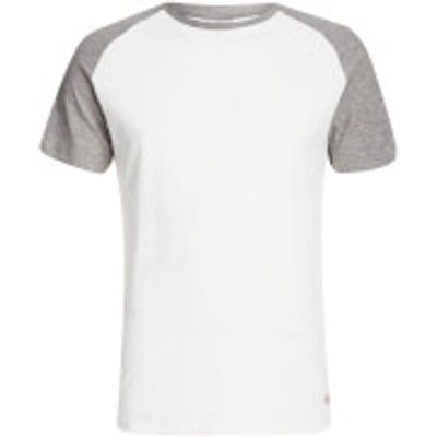 Jack & Jones Men's Originals Stan Raglan T-Shirt - Cloud Dancer/LGM - XXL - White