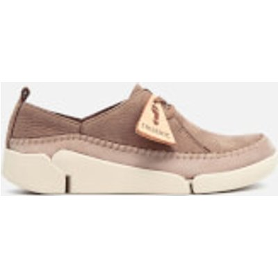 Clarks Women's Tri Angel Nubuck Trainers - Taupe - UK 8 - Nude