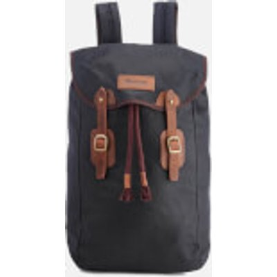 Barbour Men's Wax Leather Backpack - Navy