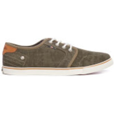 Wrangler Men's Mitos Derby Canvas Trainers - Military - UK 7 - Green