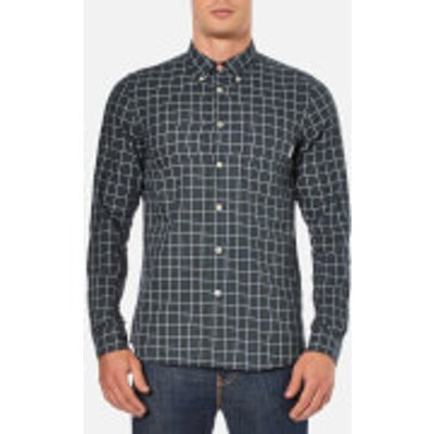 PS by Paul Smith Men's Tailored Fit Long Sleeve Shirt - Green