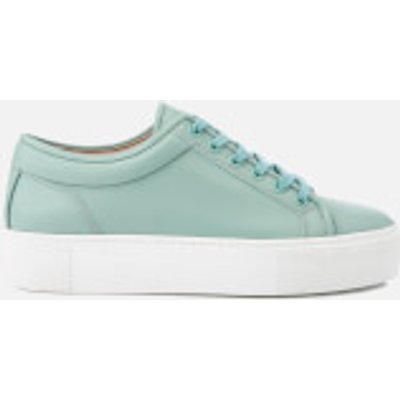 ETQ. Women's Low Top 1 Rubberized Leather Trainers - Mint Stacked