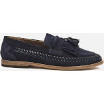 Hudson London Men's Zair Suede Tassle Weave Loafers - Navy
