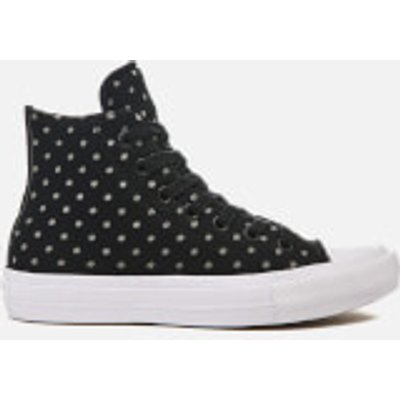 Converse Women's Chuck Taylor All Star II Hi-Top Trainers - Black/Dolphin/White - UK 4 - Black